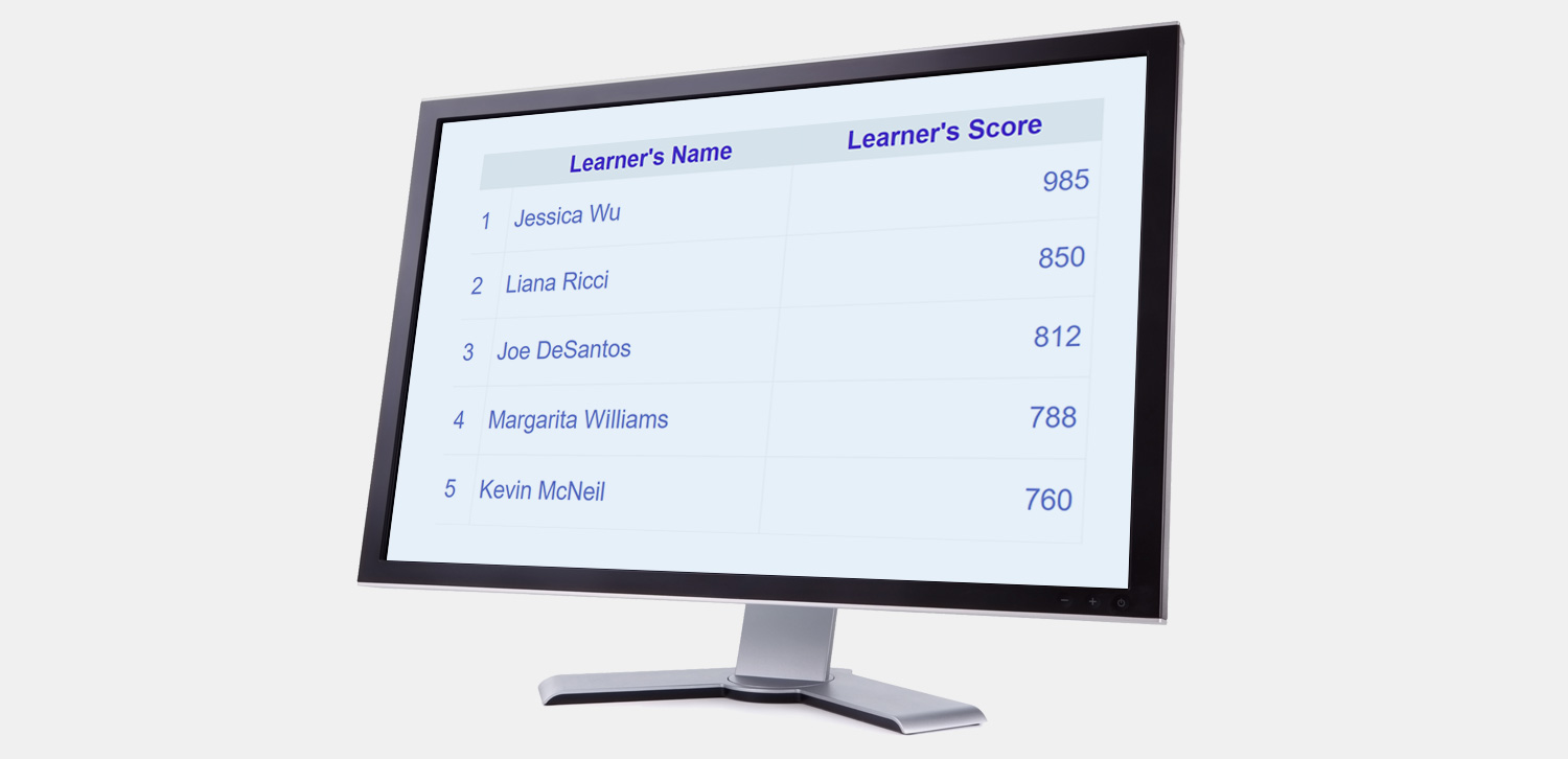 Leaderboard Widget in Articulate Storyline or Adobe Captivate